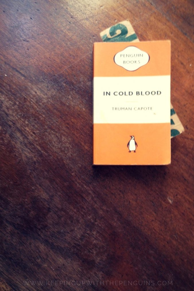 In Cold Blood - Truman Capote - book laid on wooden table - Keeping Up With The Penguins