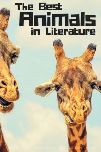 The Best Animals In Literature - Black Text Above An Image of Two Giraffe Heads - Keeping Up With The Penguins