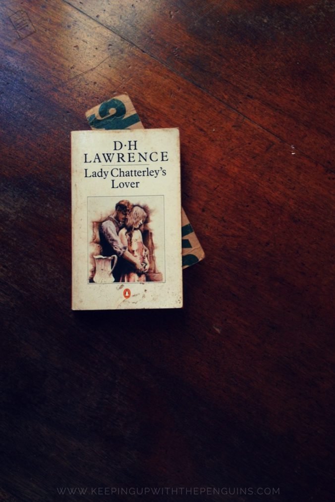 Lady Chatterley's Lover - DH Lawrence - book laid on wooden table - Keeping Up With The Penguins