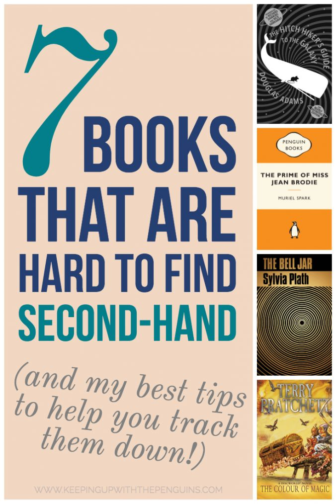 7 Books That Are Hard To Find Second Hand - Book Covers and Text - Keeping Up With The Penguins